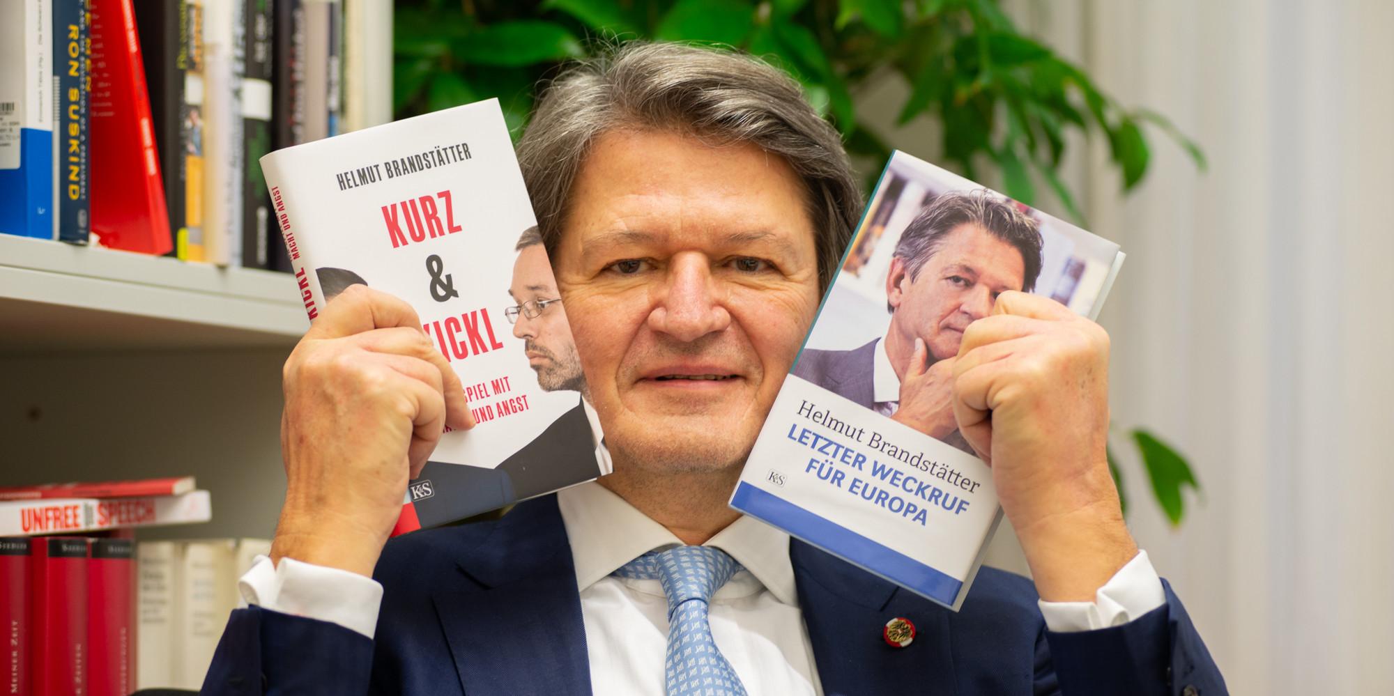 Helmut Brandstätter mit dem ersten Bundesrat der Neos, Karl-Arthur Arlamovsky