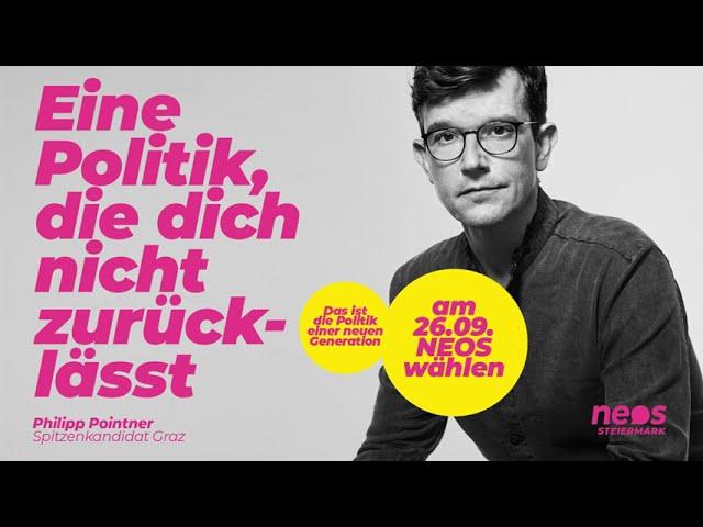Philipp Pointner: Eine Politik, die dich nicht zurücklässt – am 26.09. NEOS wählen!